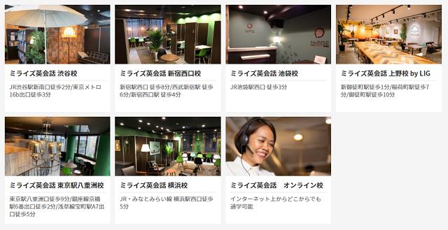 MeRISE(ミライズ)英会話の店舗や教室情報