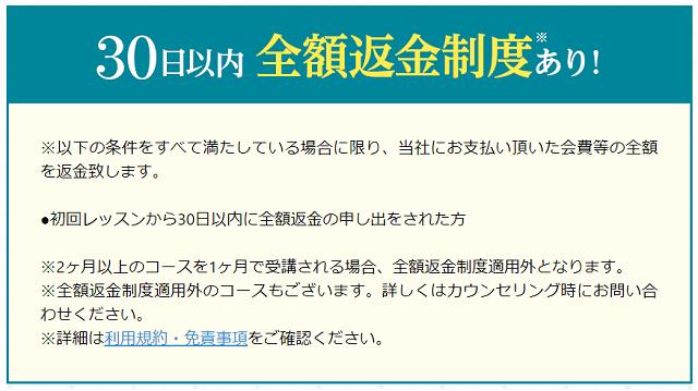 24/7 ENGLISHの全額返金保証制度